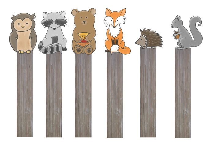 segnalibri animali del bosco