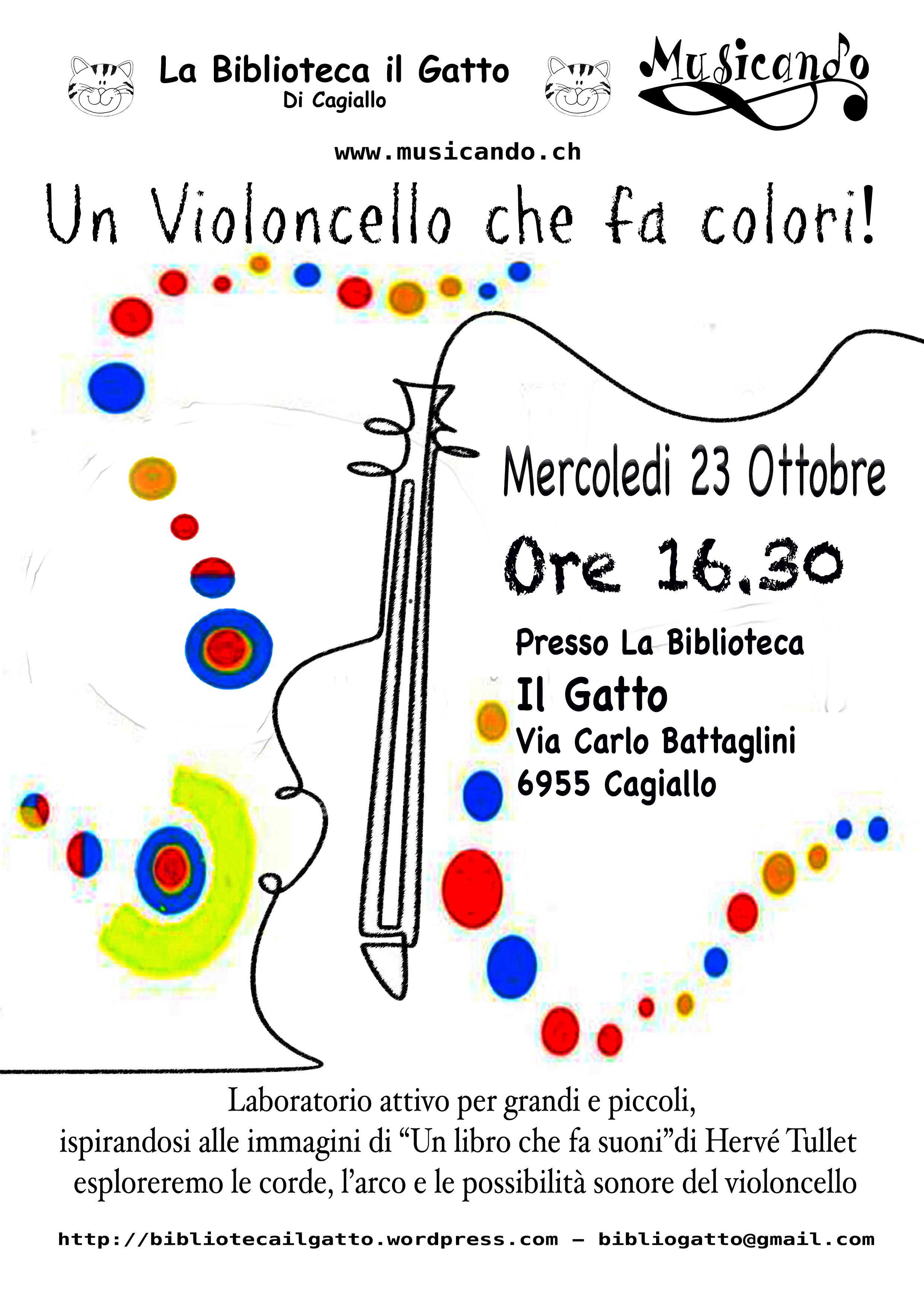 Un violoncello che fa colori - Cagiallo